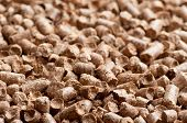Wood pellet background pattern