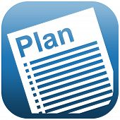 Blue Icon Illustration Document Plan
