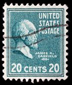 UNITED STATES - CIRCA 1938 : A stamp printed in United States. Displays a portrait of of James Abram