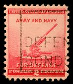UNITED STATES - CIRCA 1940: stamp printed by United states, shows 90-millimeter Antiaircraft Gun, ci
