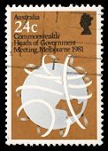 AUSTRALIA - CIRCA 1981: A stamp printed in Australia shows Commonwealth Heads of Government Meeting, Melbourne 1981, circa 1981