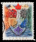 CANADA - CIRCA 1996: A stamp printed in Canada shows Canadian Heraldry, circa 1996