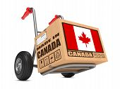 Made in Canada - Cardboard Box on Hand Truck.