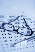 Eye Test Chart And Glasses