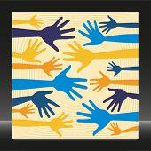 Fun hand pattern design.