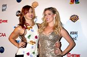 LOS ANGELES - DEC 4:  Amy Paffrath, Rebecca Zamolo at the Junior Hollywood Radio & Television 2013 S