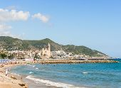 Beaches In Sitges, Catalonia Spain