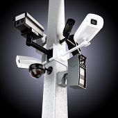 Surveillance mega camera's concept