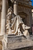 Постер, плакат: Moliere Statue xix C In Front Of Opera Theatre In Avignon