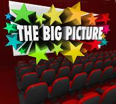 The Big Picture 3d Words Movie Screen Perspective