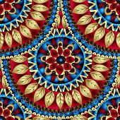 picture of batik  - Seamless geometric pattern in  - JPG