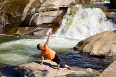 Outdoor Yoga at Waterfall