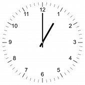 Clock Illustration 1:00
