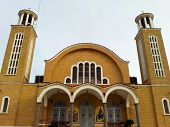 Church, Larnaca, Cyprus , on a sunny day