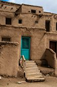 image of pueblo  - House in Taos Pueblo in New Mexico USA - JPG