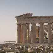 stock photo of akropolis  - Parthenon ancient Greek temple - JPG
