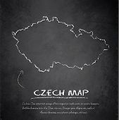 Czech map blackboard chalkboard vector