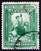 Postage Stamp Peru 1902 Liberty, Allegory