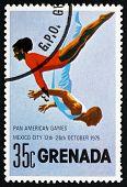Postage Stamp Grenada 1975 Gymnastics