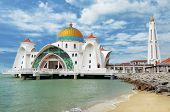 picture of malacca  - Malacca Straits Mosque  - JPG
