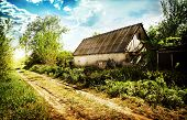Old Abandoned House In A Village