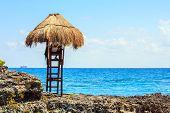 Lifeguard Hut On Mexican Coast