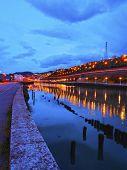Industrial Bilbao In The Night.
