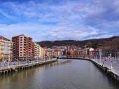 Nervion River In Bilbao