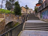 Mallona Gate And Stairs In Bilbao
