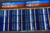 Flight Information Board In Airport.