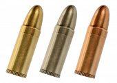 Golden silver bronze bullet