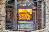 Los Caracoles Restaurant In Barcelona, Spain.