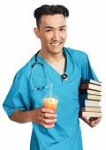 Medical Student With Books