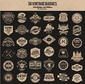 vintage retro label badge collection