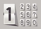 Numbers clock flip Scoreboard Illustration