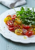 Cherry Tomato and Rocket Salad with Sesame Seeds
