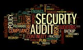 image of financial audit  - Security audit  in word tag cloud on black - JPG