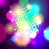 Night bokeh background with dots, vector Eps10.