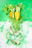 Healthy vegetables in a glass. Diet concept