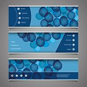 Web Design Elements - Header Design with Circles