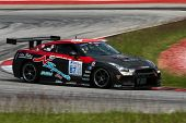 SEPANG, MALAYSIA - MAY 10, 2014: The Nissan GTR R35 car of Traitanit Chimtawan takes to the track at
