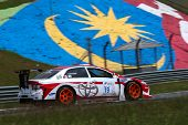 SEPANG, MALAYSIA - MAY 10, 2014: The Toyota 86 car of Suttipong Smittachartch takes to the track at