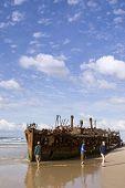 Maheno Ship Wreck On Fraser Island