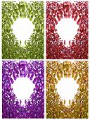 Multicolored Collage Of Bodhi Leafs Circles