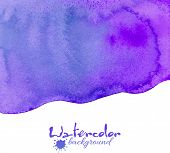 Violet watercolor vector background