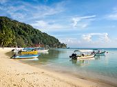 Boats in Coral Bay, Perhentian Island, Malaysia