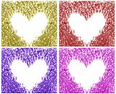 Multicolored Empty Heart Collage