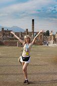 Italy. Pompeii. Tourist