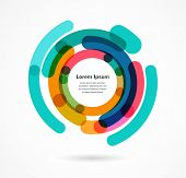 Abstract colorful background infographic with copy space