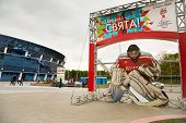 Minsk, Belarus - May 11 - Chizhovka Arena On May 11, 2014 In Minsk, Belarus. Ice Hockey World Champi